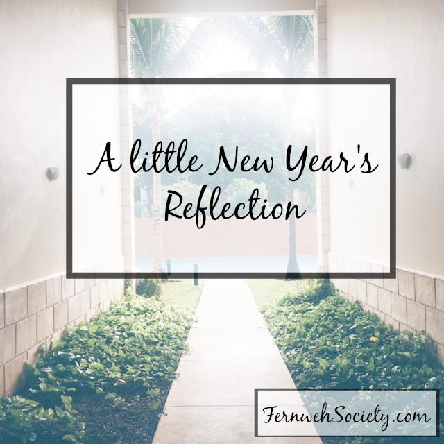 new year's reflection